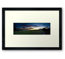 Sussex Sunset Framed Print