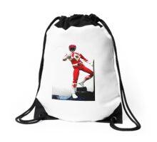 Mighty Morphin Red Ranger Drawstring Bag