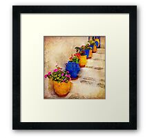 Descending Flowers - Vintage Framed Print
