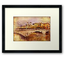 Stone Bridge - Vintage Framed Print