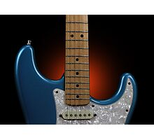 Fender Stratocaster In Blue Sparkle Cutaway Detail Photographic Print