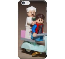 Marty and Doc ride a Scooter iPhone Case/Skin