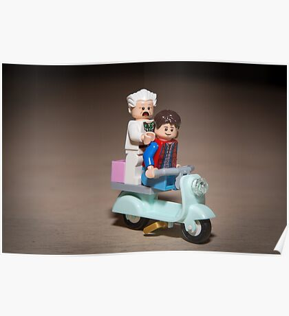 Marty and Doc ride a Scooter Poster
