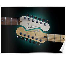 Fender Stratocaster Mating Headstocks Poster