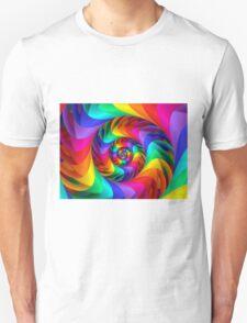 Pointy Rainbow Fractal Spiral T-Shirt