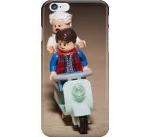 Marty and Doc Brown ride a Scooter iPhone Case/Skin
