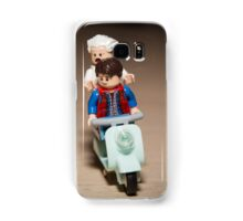 Marty and Doc Brown ride a Scooter Samsung Galaxy Case/Skin