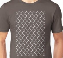 Chain Link on Black Unisex T-Shirt