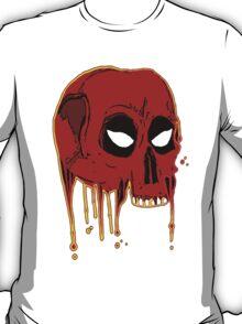 Evil comic bleeding skull T-Shirt