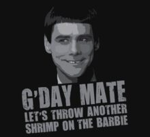 Funny Dumb and Dumber Gday Mate  by movieshirtguy