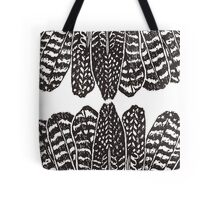 Tribal Feathers  Black Tote Bag