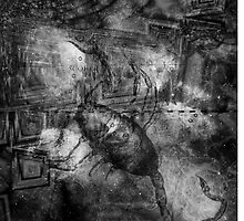 When The Stars Are Right - The Cat's Paw Nebula in Scorpius (black & white version) by Richard Maier