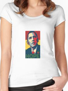 President Obama Hope Weed Women's Fitted Scoop T-Shirt