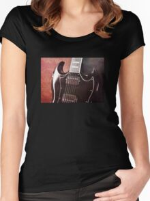 Gibson SG Standard Red Grunge Women's Fitted Scoop T-Shirt