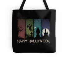 Happy Halloween - 4 Panels Tote Bag