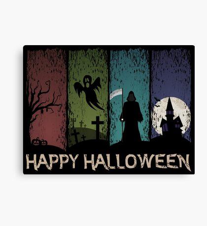Happy Halloween - 4 Panels Canvas Print