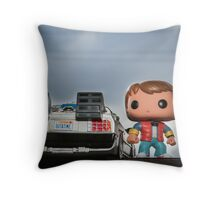 Outatime with Marty McFly Throw Pillow