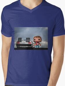 Outatime with Marty McFly Mens V-Neck T-Shirt