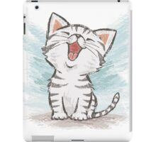 American Shorthair happy iPad Case/Skin