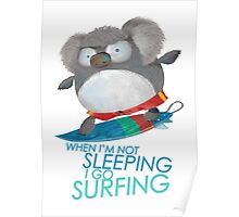 Surfing Koala Poster