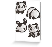 Rolling panda Greeting Card
