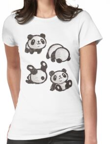 Rolling panda Womens Fitted T-Shirt