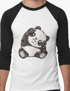 Cute Panda Men's Baseball ¾ T-Shirt