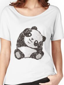 Cute Panda Women's Relaxed Fit T-Shirt