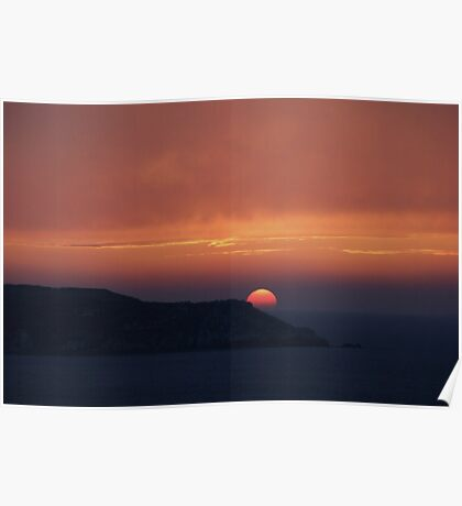 Atlantic Sunset Poster