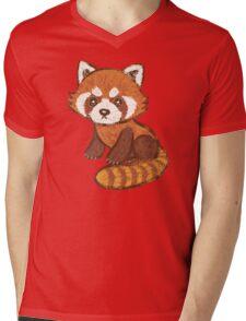 Red Panda Mens V-Neck T-Shirt