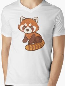 Red Panda Mens V-Neck T-Shirt