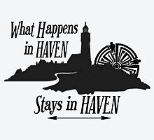 What Happens In Haven Lighthouse Black Logo by HavenDesign