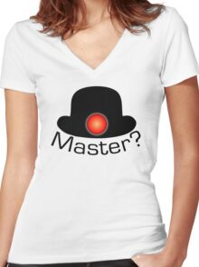 Bowler Hat Army Women's Fitted V-Neck T-Shirt