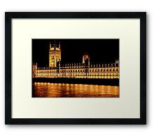 Nighttime at Westminster Framed Print