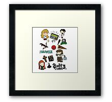 buffy etc. Framed Print