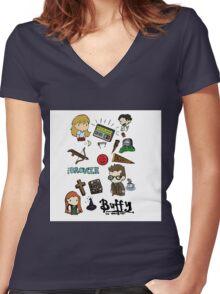 buffy etc. Women's Fitted V-Neck T-Shirt