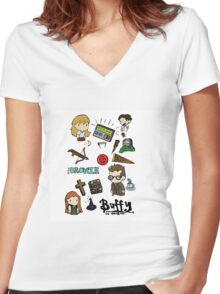buffy etc. Women's Fitted V-Neck T-Shirt