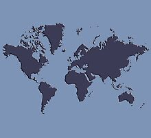 World Splatter Map - npowder blue by Mark McKinney