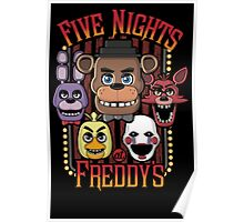 Five Nights At Freddy's Multi Character Poster