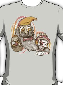 Gnome being attacked by killer shroom! T-Shirt