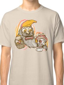 Gnome being attacked by killer shroom! Classic T-Shirt