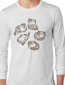 Impudent cats relax Long Sleeve T-Shirt
