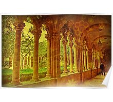 Cloisters. Dominican Monastery. Dubrovnik. Poster