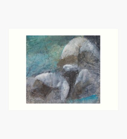 Lunar Formations Art Print