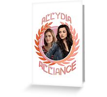 Allydia Alliance [The Hunter & The Banshee] Greeting Card