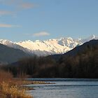 North Cascades and the Skagit River by Mike  Kinney