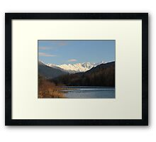 North Cascades and the Skagit River Framed Print