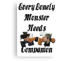Every Lonely Monster... [Black/ Johnlock] Canvas Print
