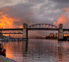 Fire at Sunset by Kathleen  Copeland