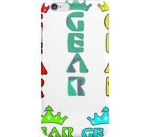 Gear Glass Horizontal Vertical Design iPhone Case/Skin